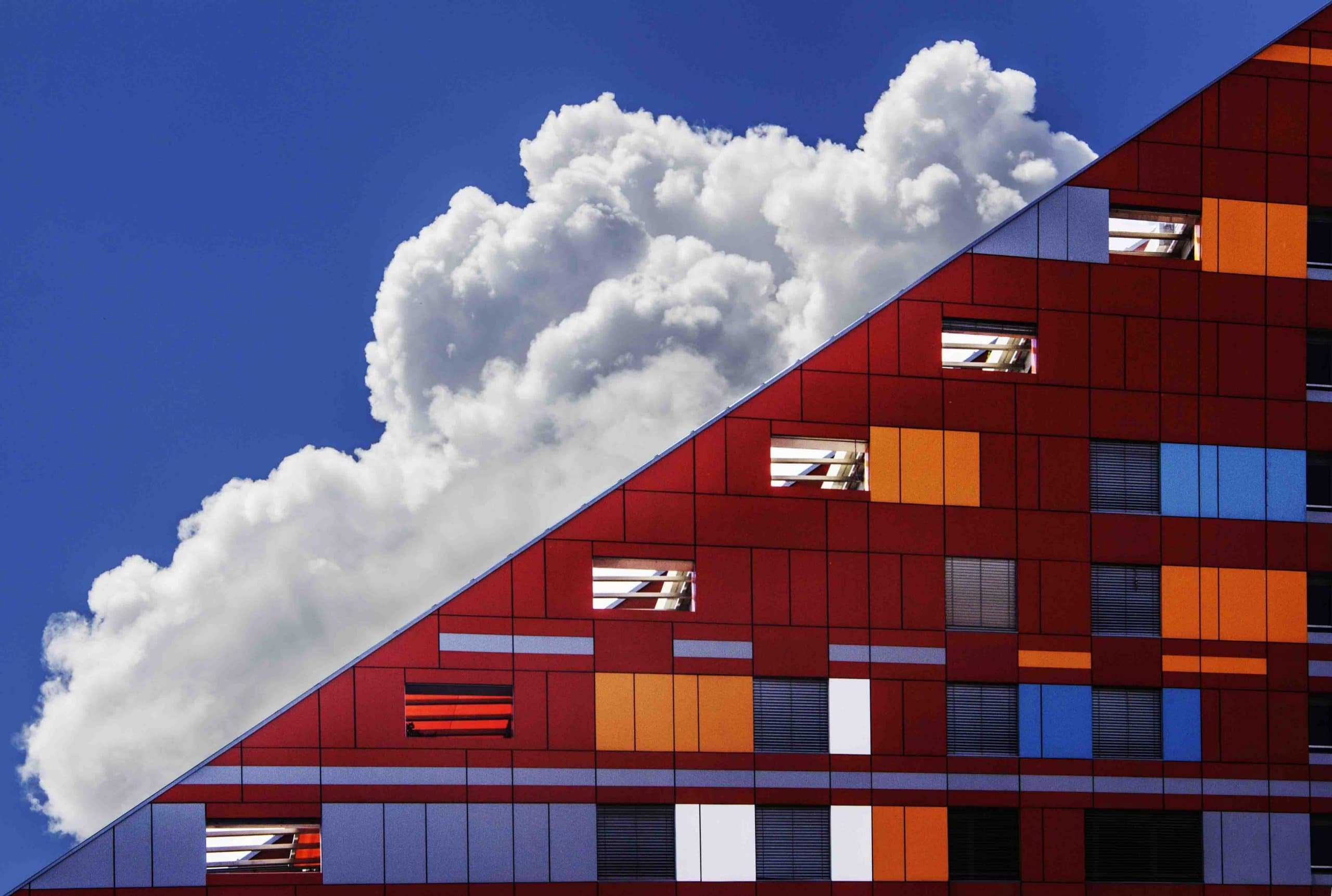 architecture building clouds